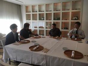 10月13日「フレンチ茶会」の試食&打ち合わせ@和多屋別荘コットンクラブ