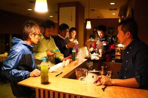 10月11日 HPとお茶の打ち合わせ@大村屋湯けむりラウンジ