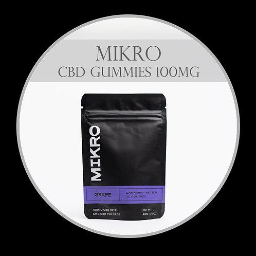 MIKRO CBD Grape Gummies 100mg