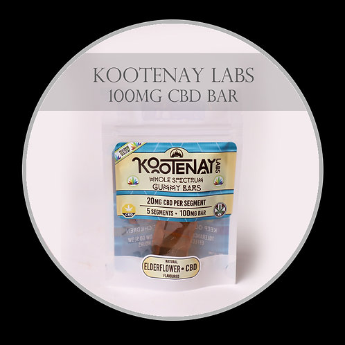 Kootenay Labs – Elderflower 100MG BAR