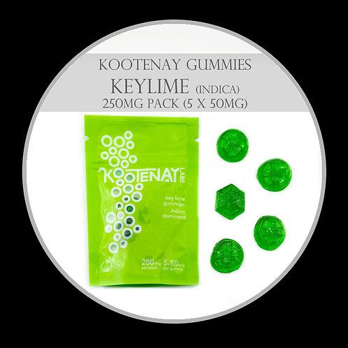 Kootenay Labs Gummies - 250mg/Bag Keylime (Indica)