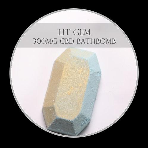 Lit Gem 300mg CBD Bath Bomb