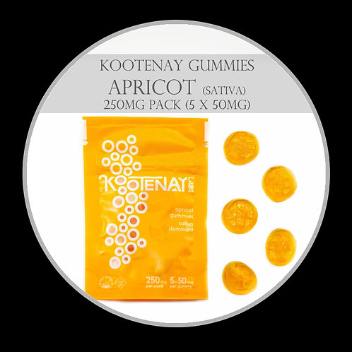 Kootenay Labs Gummies - 250mg/Bag Apricot (Sativa)