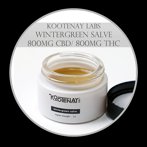 Kootenay Labs – Wintergreen THC/CBD Salve 800mg/800MG
