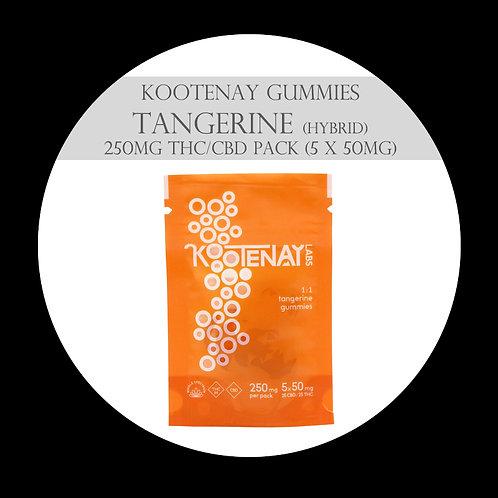 Kootenay Labs Gummies - 250mg/Bag Tangerine CBD/THC (Hybrid)