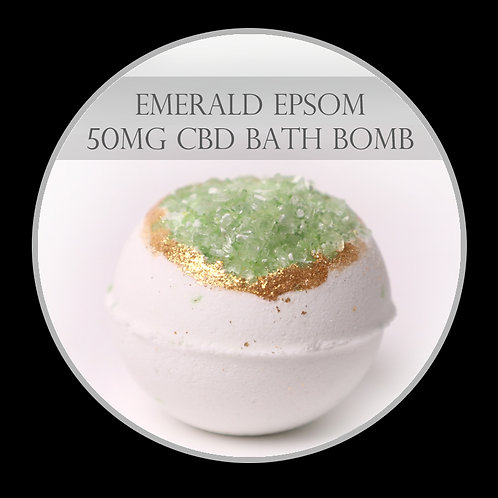 Emerald Epsom 50mg CBD Bath Bomb