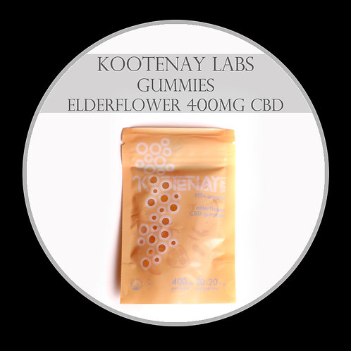 Kootenay Labs – Elderflower Gummies (400mg CBD)