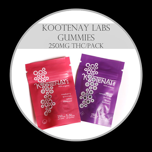 Kootenay Labs Gummies - 250mg/Bag