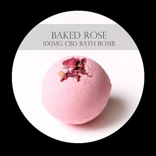 Baked Rose 100mg CBD Bath Bomb