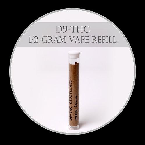 1/2 Gram D9-THC Vape Pen Refill
