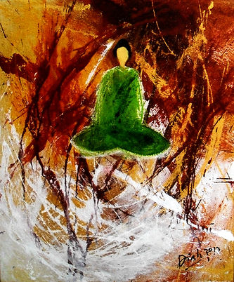 Diah Meditation on Silence-60x50 cm-Mixe
