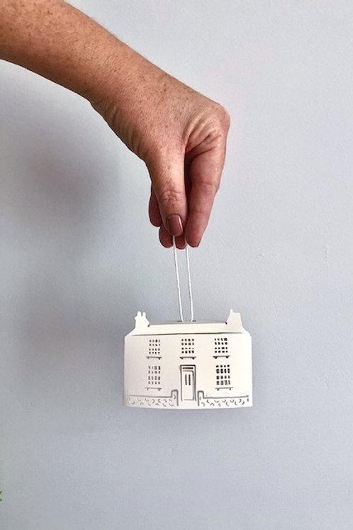 Paper House Ornament