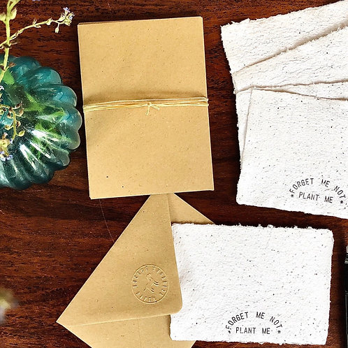 Forget-Me-Not Seed Paper Notelets