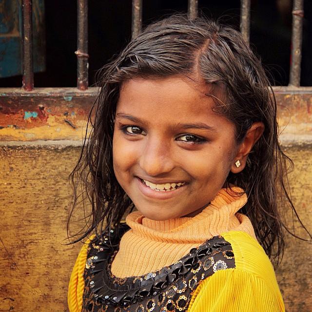 A warm smile #india #smile #girl