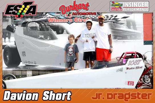August 15 Jr. Dragster Winner