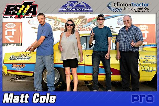 Pro Winner Matt Cole