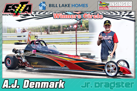 Jr. Dragster Winner AJ Denmark