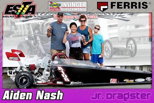Jr. Dragster Winner Aiden Nash