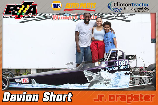 Jr. Dragster Winner Davion Short