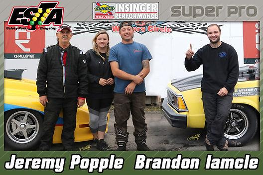 S/Pro C0-Winners Jeremy Popple & Brandon Iamcle