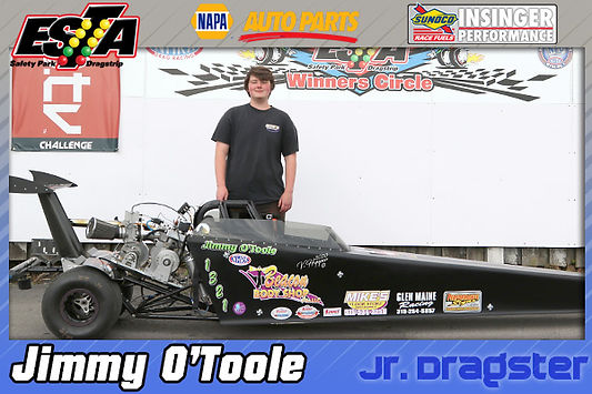 July 19 Jr. Dragster Winner Jimmy O'Toole