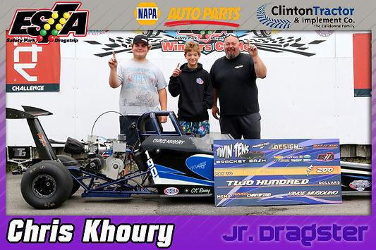 Jr. Dragster Winner Chris Khoury