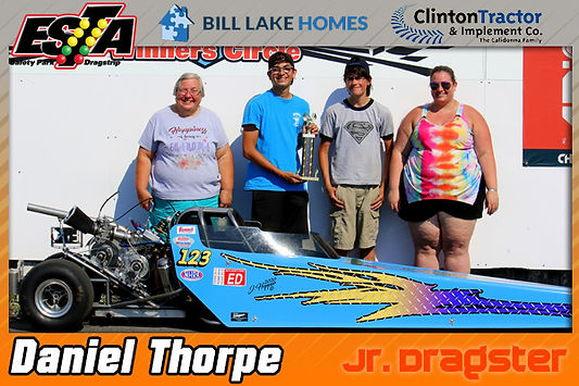Jr. Dragster Winner Daniel Thorpe