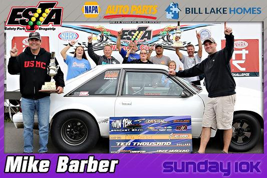Sunday 10K Winner Mike Barber