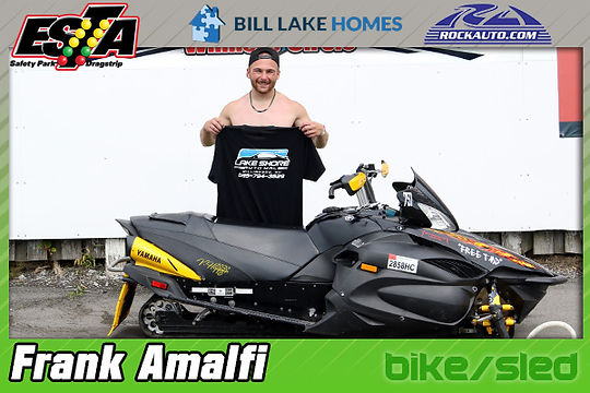 July 19 Bike/Sled Winner Frank Amalfi