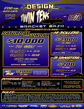 ESTA Twin Tens 2020 Bracket Bash Poster