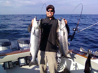 whitecap charters, charlevoix charter fishing, bay harbor ,  harbor springs