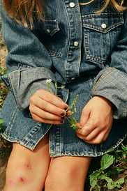 denim, portrait, leaves, grass, olivia noss