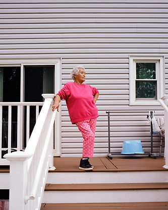 vanessa vargas, grandmother, portrait, pink, strong