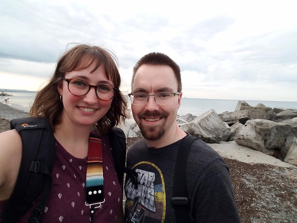 Selfie at Van Wagner Beach, Ontario