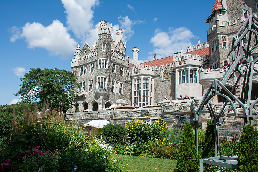 View of Casa Loma from the garden
