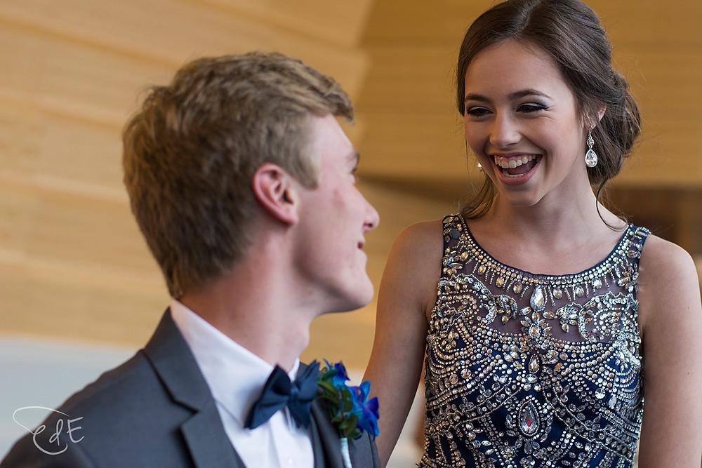High school prom couple