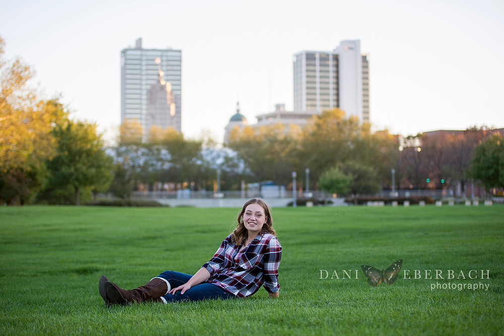 Senior Portraits with Fort Wayne Skyline