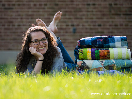Kaitlynn and Quilts | Portraits in Fort Wayne, Indiana