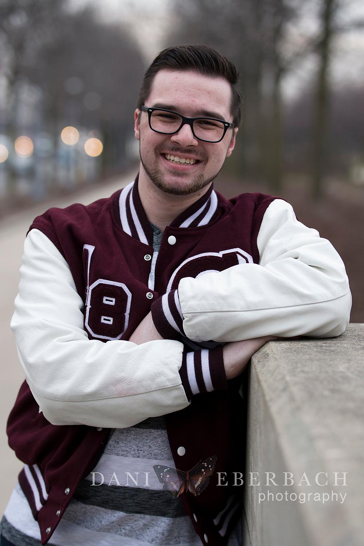 Senior guy with letter jacket