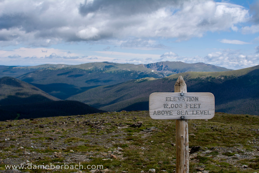 Rocky Mountain National Park at 12,005 ft elevation