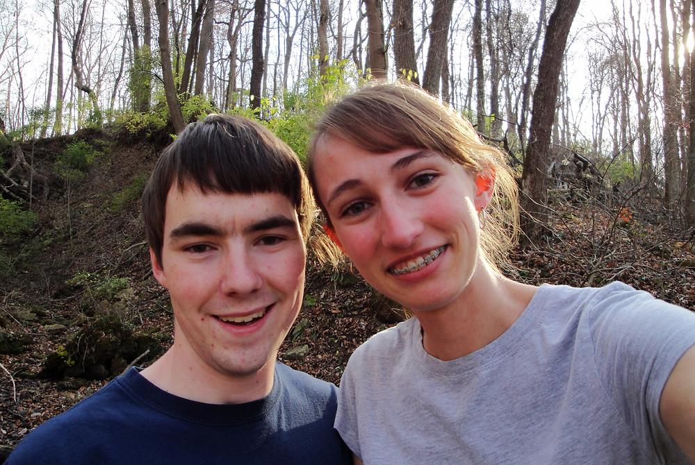 Hiking at John Bryan State Park, 2010