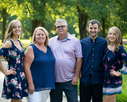 Family Portrait at Headwaters Park in Fort Wayne