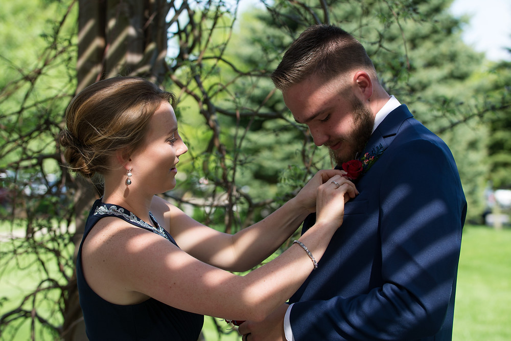 Prom couple in Fort Wayne