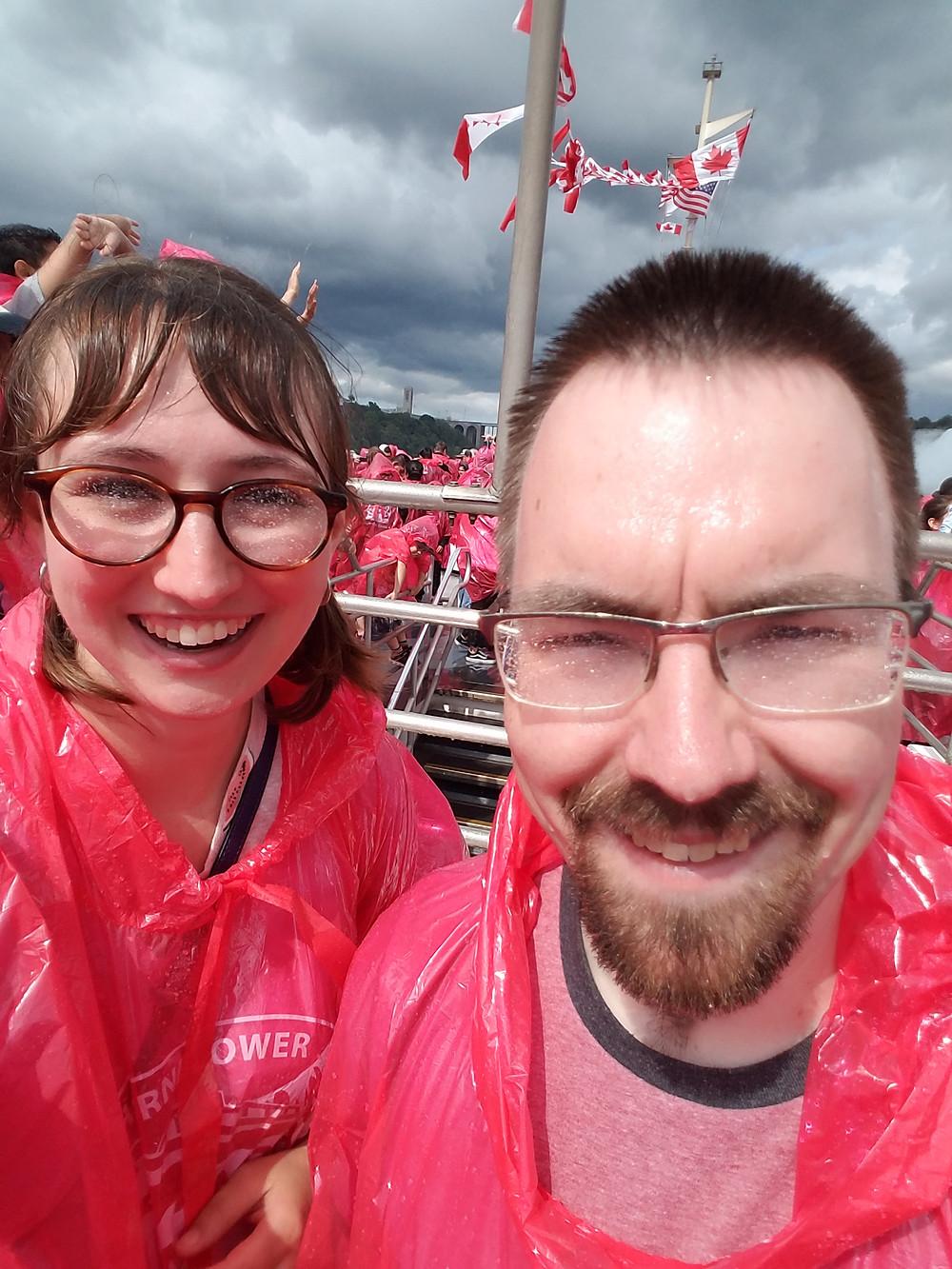 Selfie on boat tour at Niagara Falls