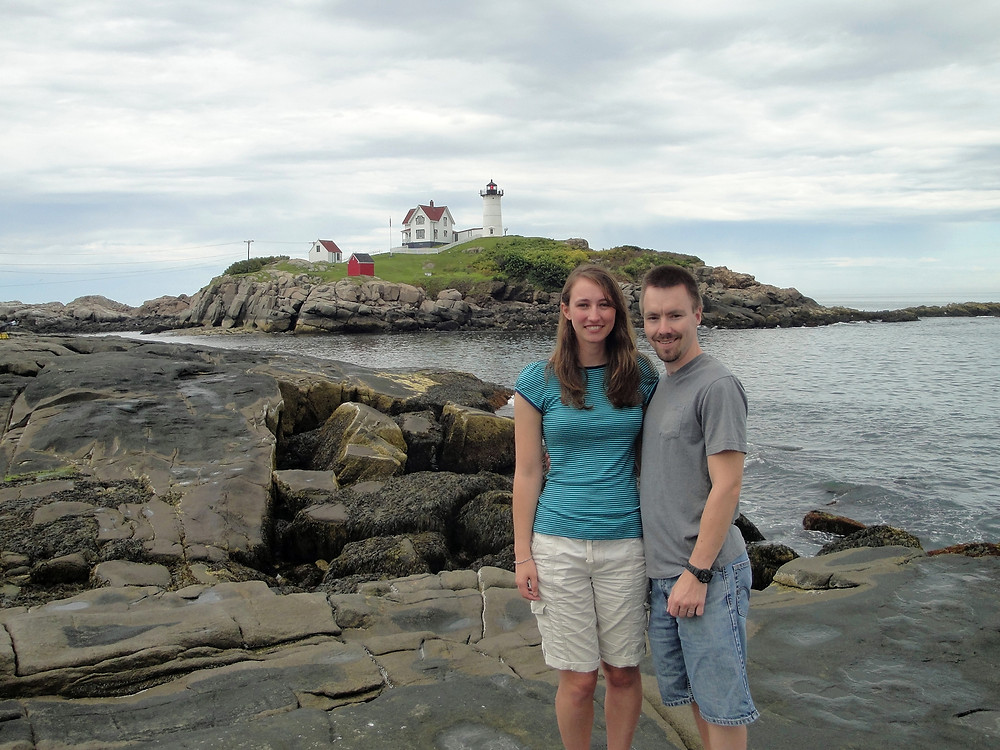 At Nubble Lighthouse in Maine, 2014