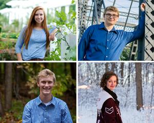 Senior portraits in Fort Wayne through the seasons
