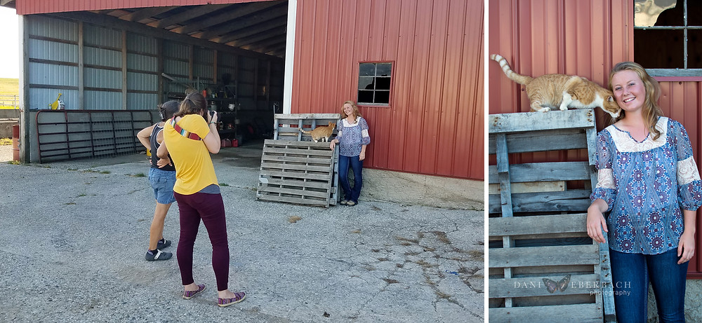 Behind the scenes of senior pictures at the farm