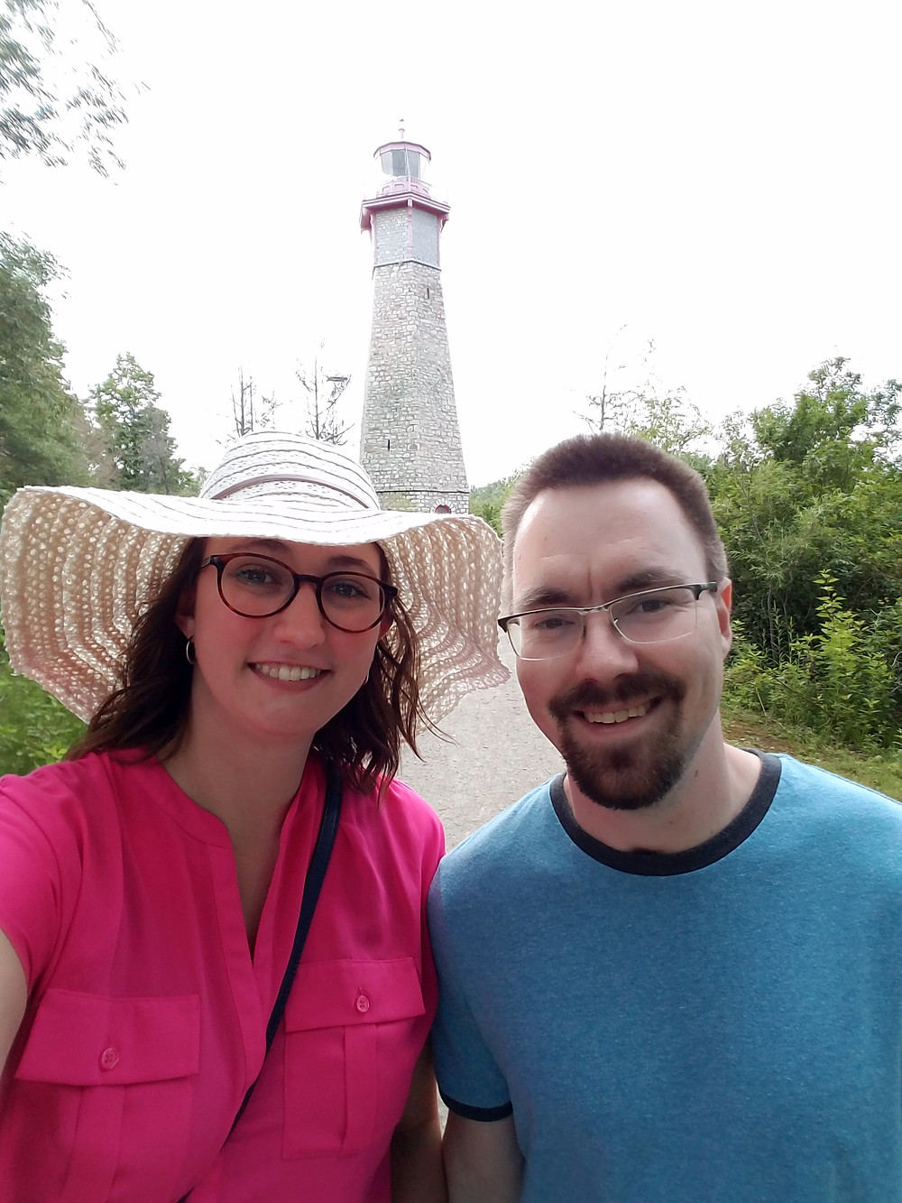 Selfie with the lighthouse on Toronto Island