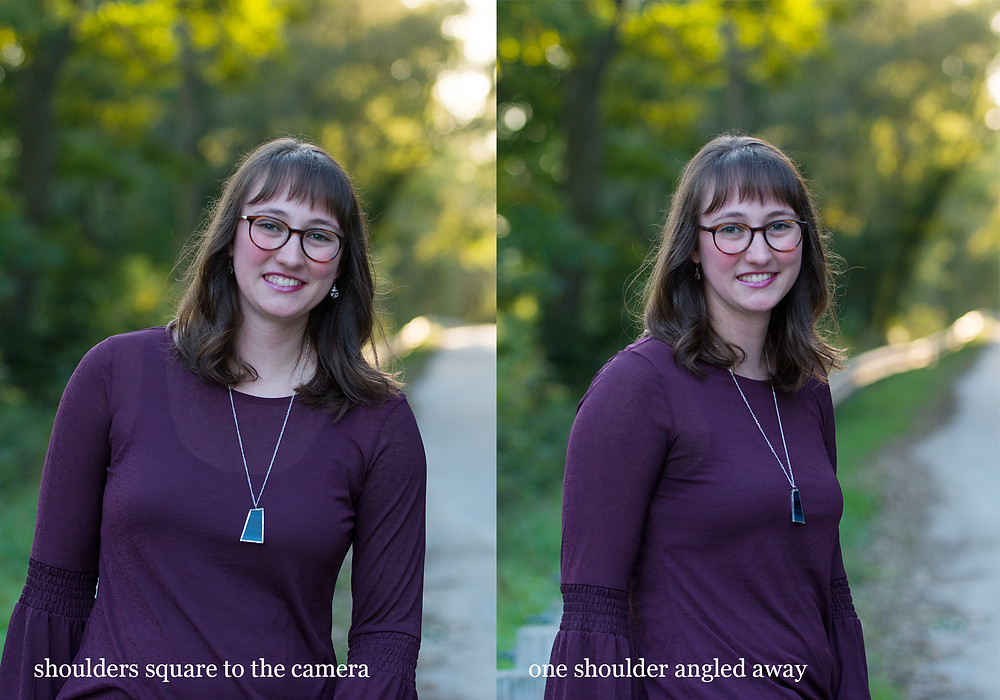 Female portrait pose at angle to camera