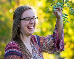 High School Senior Girl Portrait with Trees in Fort Wayne